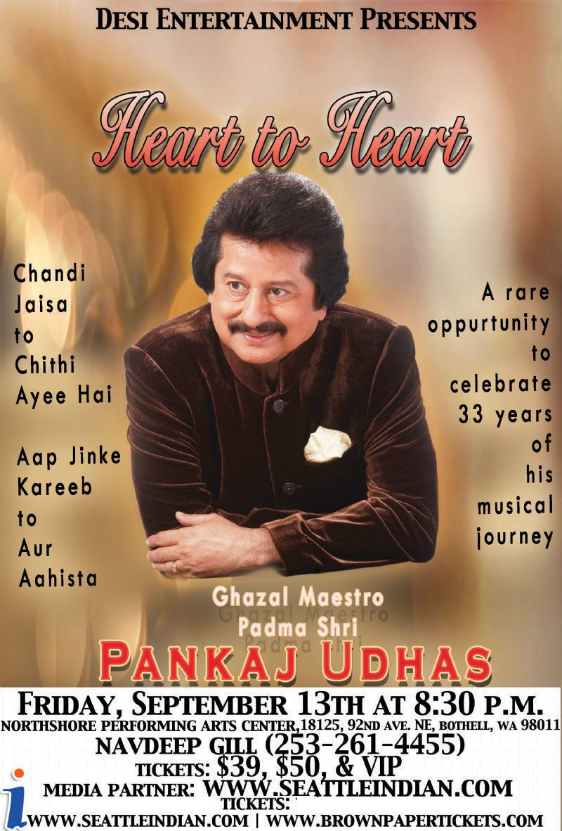 Pankaj Udhas Live in Concert in Seattle