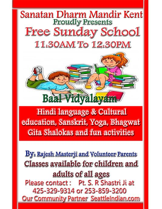 End Date            Venue  Sanatan Dharm Mandir City  Kent Details  Free Sunday School