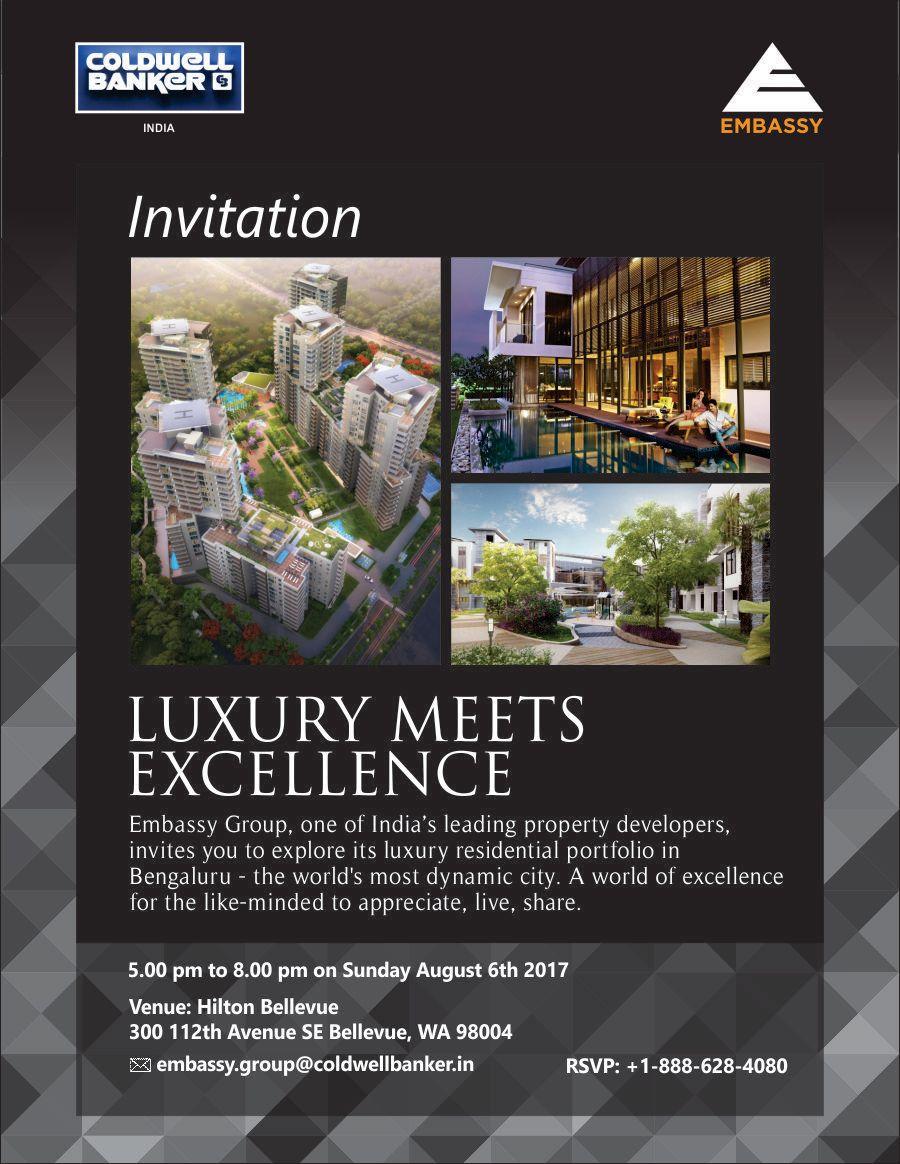 bangalore real estate event embasssy group in hilton bellevue bellevue