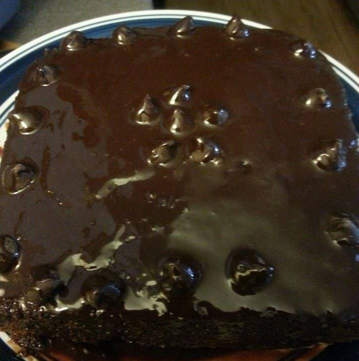Simple Chocolate Cake with Ganache Frosting