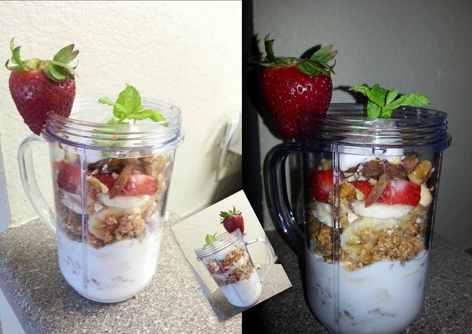 Banana & strawberry with Mixed dry fruits Parfaits