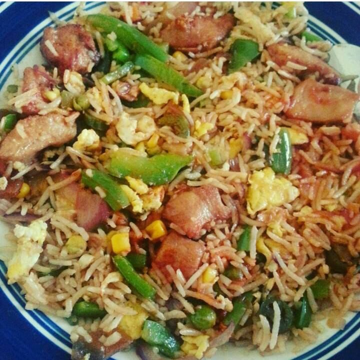 Hot & Spicy Garlic Chicken Fried Rice