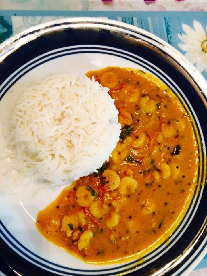 Shrimp curry (Mustard flavor)