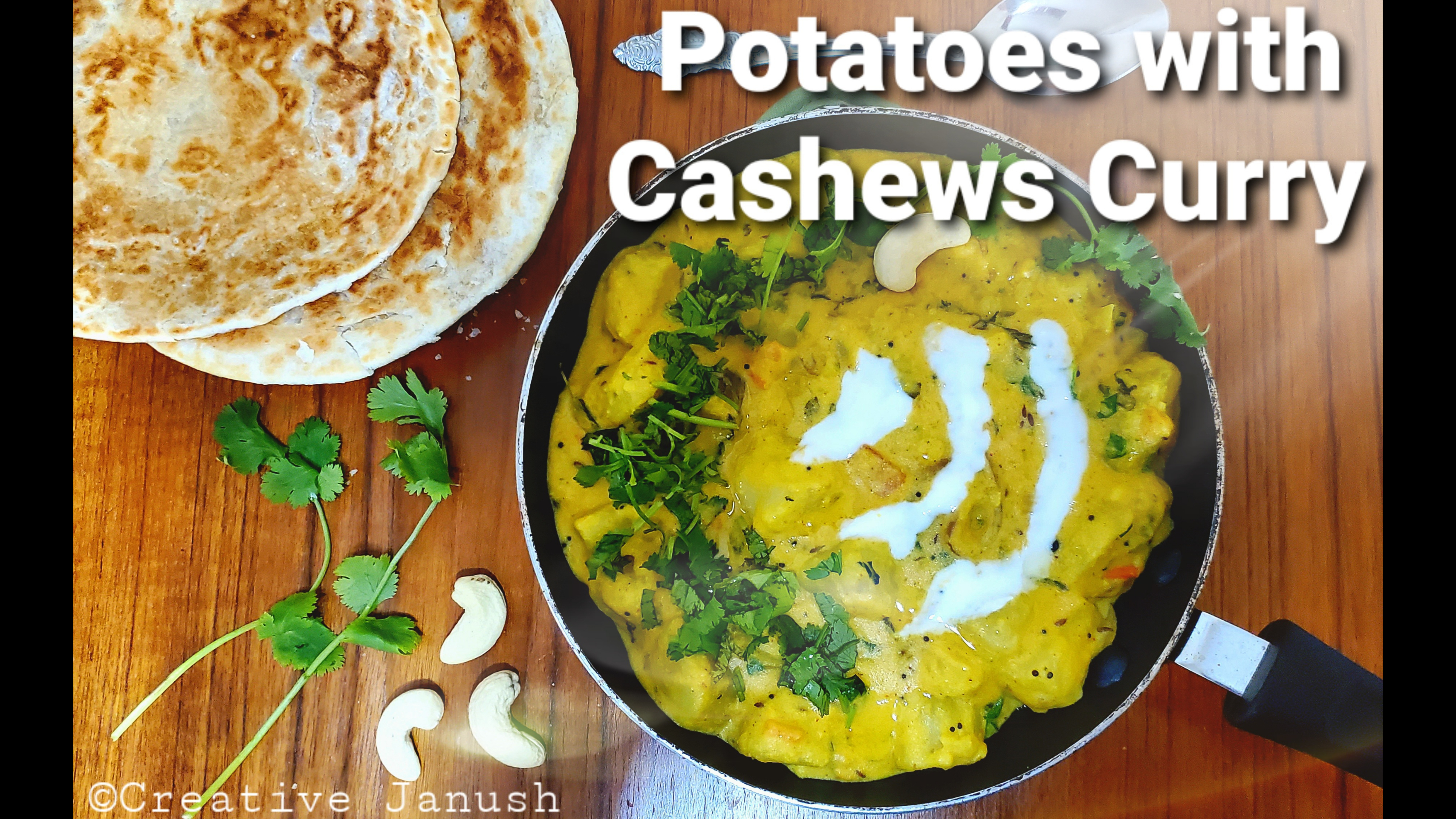 Potatoes with Cashew Curry