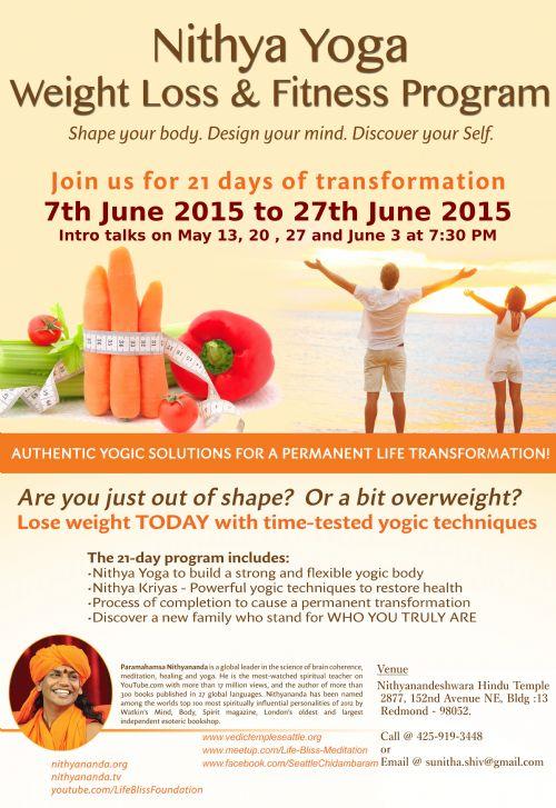 Nithya Yoga Weight Loss & Fitness Program by Kailaasa of