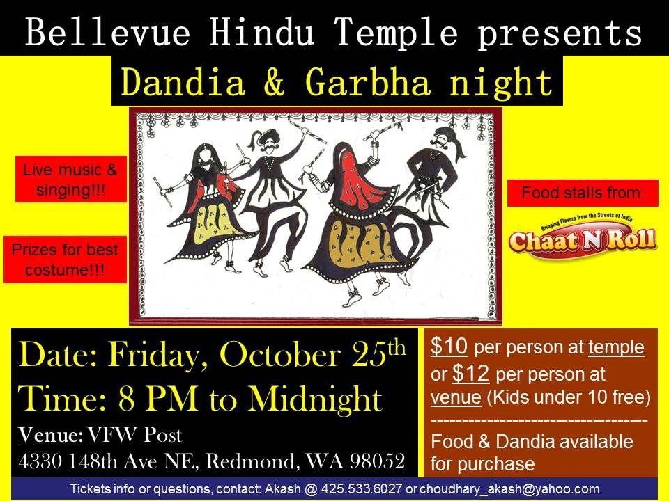 Dandia & Garbha (Garba) Night by Bellevue Hindu Temple