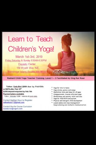 Radiant Child Yoga Teacher Training Level 1 - 3
