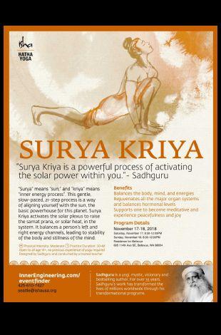 Hatha Program - Surya Kriya (Morning)