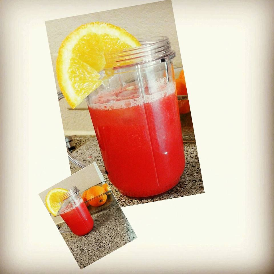 Fresh Watermelon Orange Juice