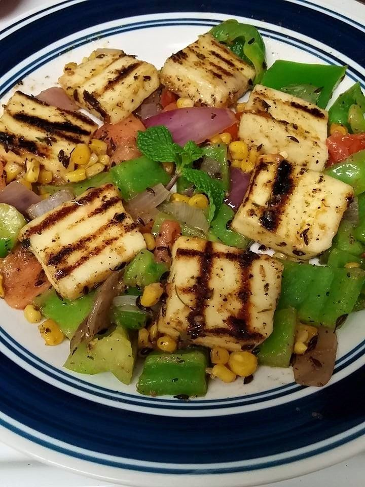 Grilled Paneer with sauteed & Crunchy veggies